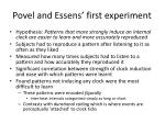 povel and essens first experiment