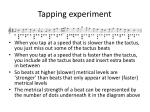 tapping experiment1