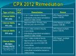 cpx 2012 remediation