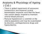 anatomy physiology of ageing cvs3