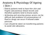 anatomy physiology of ageing skin