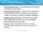onc s proposed approach