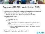 separate oai pmh endpoint for cmdi