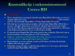 kontradikcije i nekonsistentnosti ustava rh1