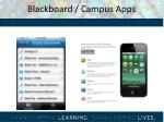 blackboard campus apps
