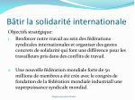b tir la solidarit internationale