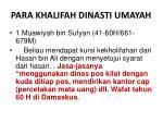para khalifah dinasti umayah