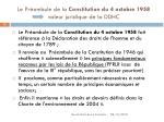 le pr ambule de la constitution du 4 octobre 1958 valeur juridique de la ddhc