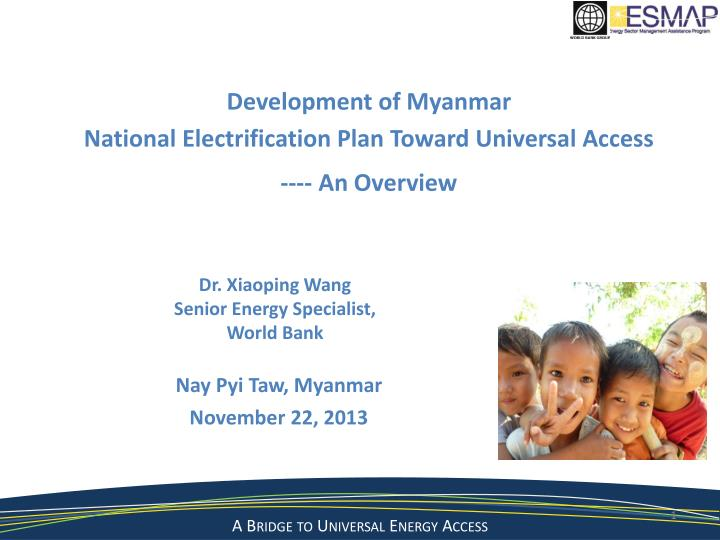 dr xiaoping wang senior energy specialist world bank n.