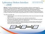 laboratory orders interface edos