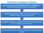 orientations strat giques nationales