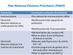 plan national d actions prioritaires pnap