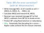 twist ibfs for error correction with m mitzenmacher