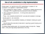 use of cdc constraints in chip implementation