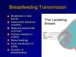 breastfeeding transmission