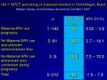 hiv 1 mtct and timing of maternal infection in portoalegre brazil