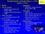 randomization at study sites n 1745 4 2004 to 7 2010