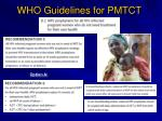 who guidelines for pmtct1