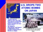 u s drops two atomic bombs on japan