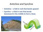 anticline and syncline