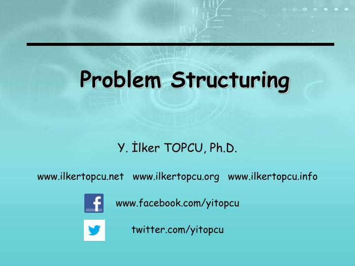 problem structuring n.