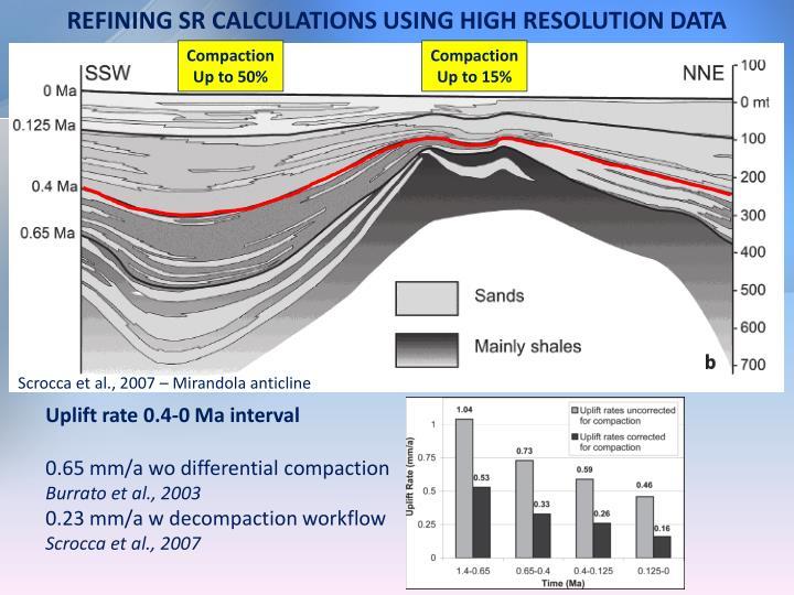 REFINING SR CALCULATIONS USING HIGH RESOLUTION DATA