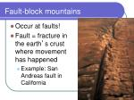 fault block mountains