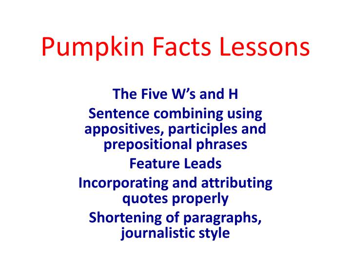 pumpkin facts lessons n.