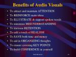 benefits of audio visuals