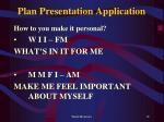 plan presentation application