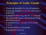 principles of audio visuals