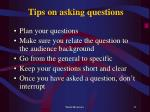tips on asking questions