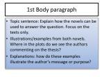 1st body paragraph