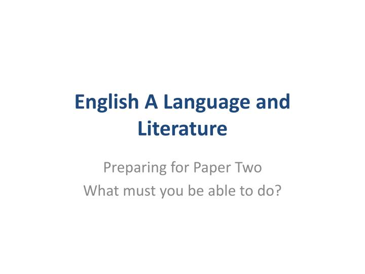 english a language and literature n.