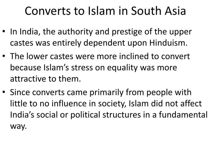converts to islam in south asia n.