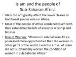 islam and the people of sub saharan africa