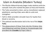 islam in anatolia modern turkey