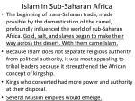 islam in sub saharan africa