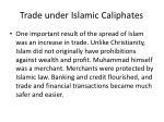 trade under islamic caliphates