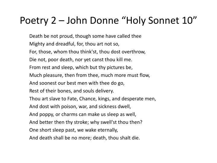 an analysis of holy sonnet 9 a poem by john donne