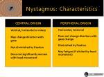 nystagmus characteristics