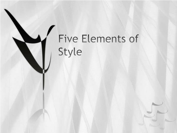 five elements of style n.