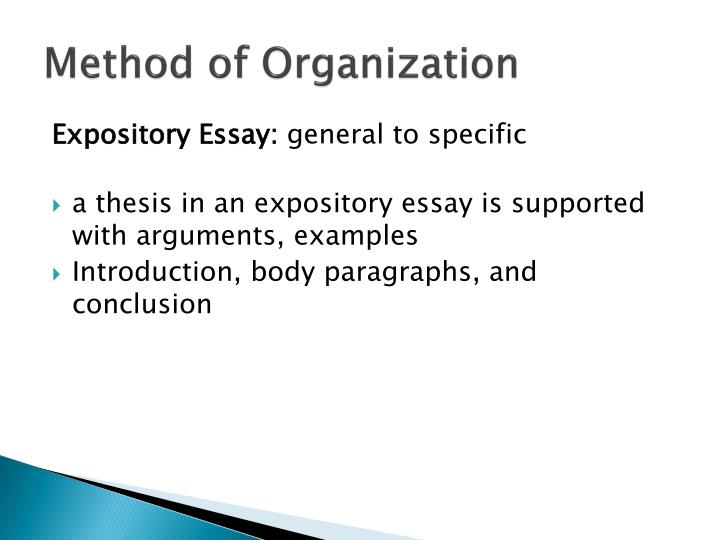 Method of Organization