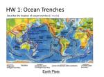 hw 1 ocean trenches
