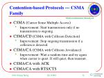 contention based protocols csma family