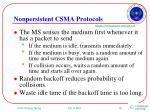 nonpersistent csma protocols