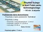 przyk ad du ego w skali polski parku technologicznego 145 mln z aktyw w