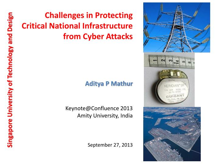 c hallenges in protecting critical national i nfrastructure from cyber a ttacks n.