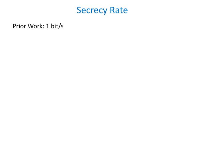Secrecy Rate