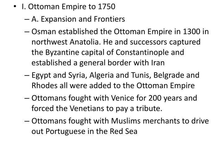 I. Ottoman